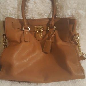 MICHAEL Michael Kors Bags - Michael Kors Hamilton cognac leather tote purse